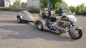 Goldwing Trike with matching tear drop trailer