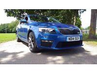 Skoda Octavia 2.0 TDI CR VRS Good / Bad Credit Car Finance (blue) 2014