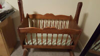 Handmade Wooden Bassinet