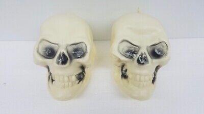 Fun World Easter Unlimited Skeleton Skull Head Blow Mold Halloween Prop Lot of 2