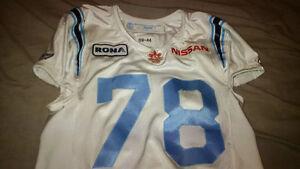 Argonauts GU Football Signed Jersey Belli + Bobblehead