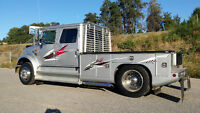1997 International 4700 Custom RV Hauler single axle