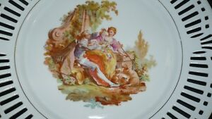 "ANTIQUE BEAUTIFUL ""SCHWARZENHAMMER"" PORCELAIN LATTICE PLATE Kitchener / Waterloo Kitchener Area image 3"