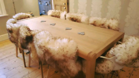 Habitat Radius 8 Seater Oak Dining Table - in time for Christmas