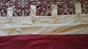 4 gold cotton curtain panels with brocade bottom trim