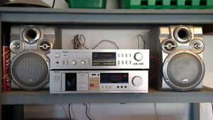 Nikko Stereo Receiver and Cassette Deck /w JVC Speakers