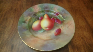 Royal Worcester Bone China E Townsend Painted Fruit Plate