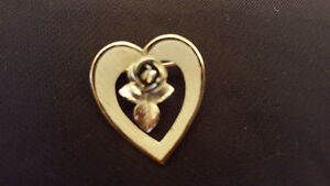 Sterling silver 925 heart brooch