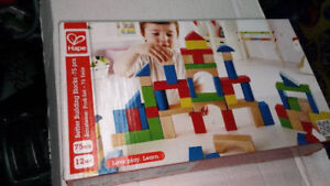 Hape Maple Wood Kid's Builidng Blocks in Assorted Shapes