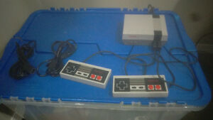 NES Classic edition with accessories