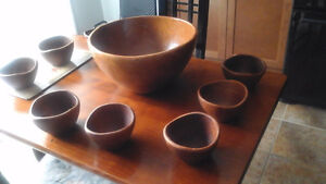 Beautiful Teak Ceasar Salad Bowl Set
