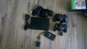 Slim Ps2 with Ps1 and Ps2 games