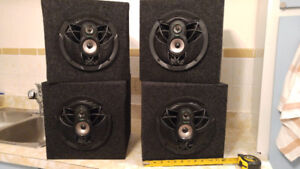 Home speakers made from car speakers