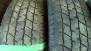 Two pairs of  P225 75 16 all season tires