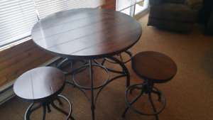 Pub style table,chairs