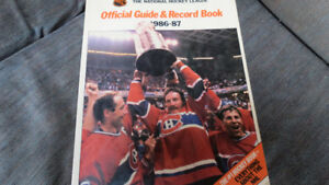 NHL guide/record book 1986-87(Montreal cover)