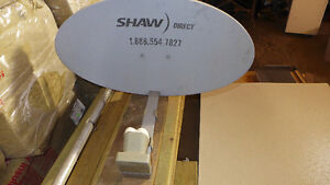 Shaw Direct Satellite Dish Dual LNB with Two Receivers