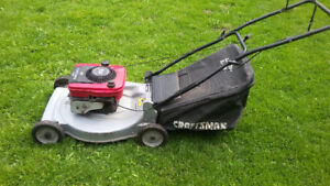 Gas Lawn mower Murray & Craftsman with bag in good condition