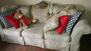 Sofa with Love seat and Antique table