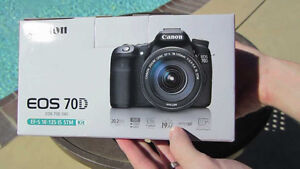 ★ BRAND NEW SEALED BOX CANON 70D WITH 18-135mm★ 1YEAR WARRANTY ★