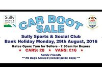 **BANK HOLIDAY CAR BOOT SALE**
