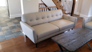 Brand new leather sofa + love seat