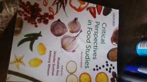 LU sociology text: critical perspectives in food studies