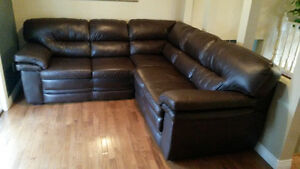 Leather couch for sale / Moving out sale