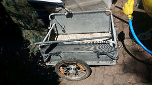 Bike trailer, foldable