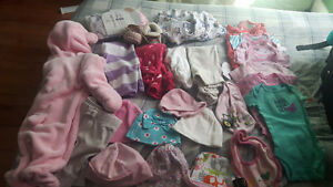 Girls clothing Some NB but mostly 0-3 months.
