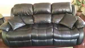 100 % leather living room sofa set for sale !