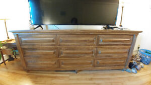 dressers, tables, chairs, sectional, trunk, stool