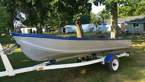 14' Aluminum boat and trailer for sale or trade Cambridge Kitchener Area image 1