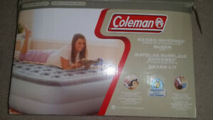 Coleman Raised Airbed with Electric Pump. Queen Size.