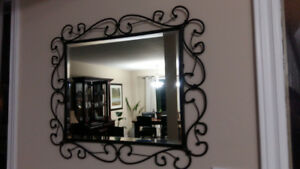 Beautiful iron-framed mirror