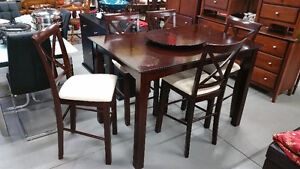 Pub Table & 5 Chairs