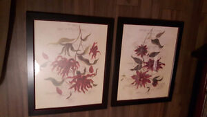 Set of framed prints from Home Interiors