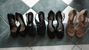 4 pair of Women's dress shoes $8ea or all for $20