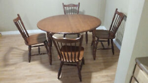 Selling Maple Kitchen Dining Table + 4 Chairs
