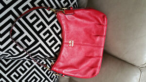 Coach Red Leather Evening Bag located in Kelowna