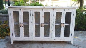 Handcrafted Solid Wood 6 Door Buffet