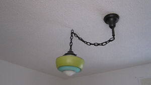 2 Schoolhouse Light fixture and shade
