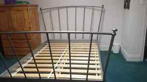 Double Metal Frame Bed & Mattress