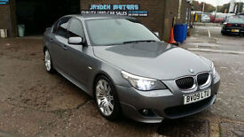2009 BMW 520d 2.0TD M SPORT BUSINESS EDITION,SAT NAV,FULL TAN LEATHER INTERIOR,