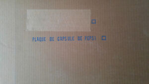 Plaque LNH avec capsules / bouchons Pepsi – 1980-81