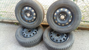 Winter Tires..Yes that's right winter tires. 4 to be exact