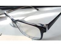 Mer eyewear. --glossy black & clear --