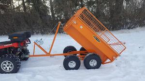 Remorque dompeur pour VTT ou petit tracteur