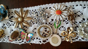 Lots of Vintage Brooches$6 to $14 Lots of Twinkle Great Shape