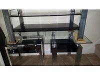 Set of 3 Datona glass tables solid not cheap